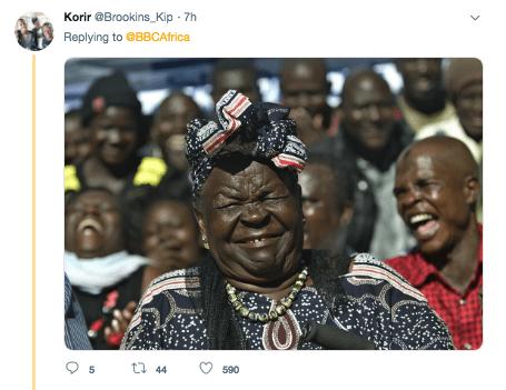 People - Korir @Brookins_Kip 7h Replying to @BBCAfrica t 44 590