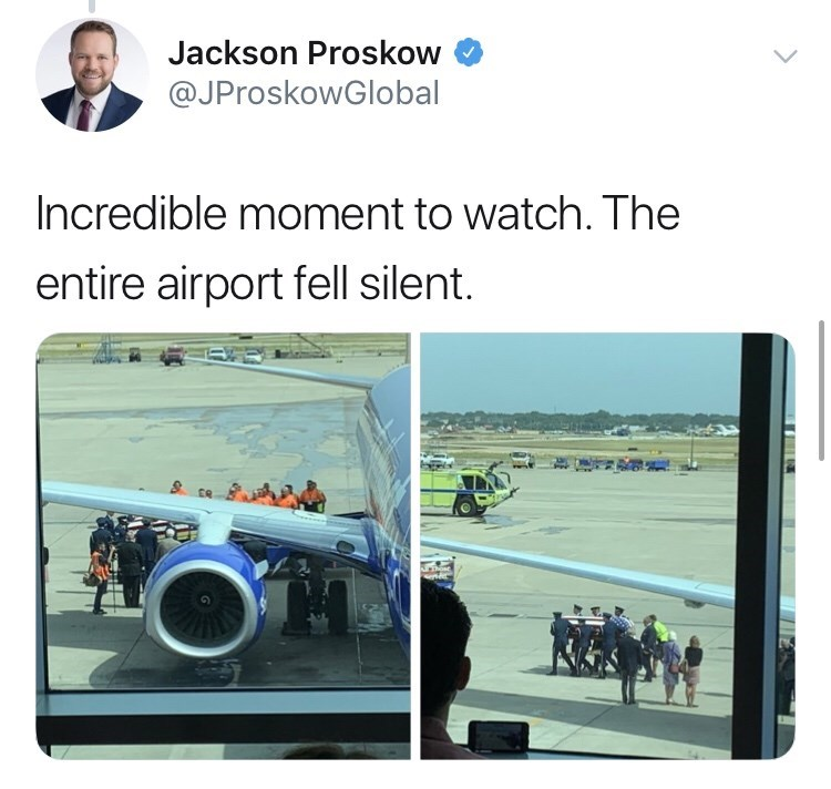 army - Product - Jackson Proskow @JProskowGlobal Incredible moment to watch. The entire airport fell silent.