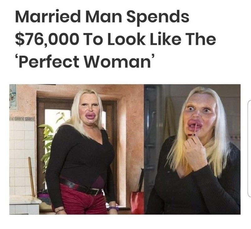 Hair - Married Man Spends $76,000 To Look Like The Perfect Woman'