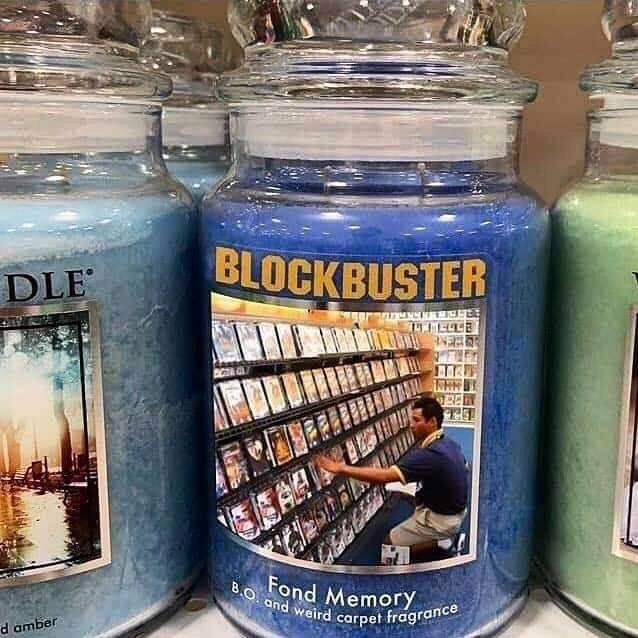 Mason jar - BLOCKBUSTER DLE Fond Memory BO and weird carpet fragrance d amber