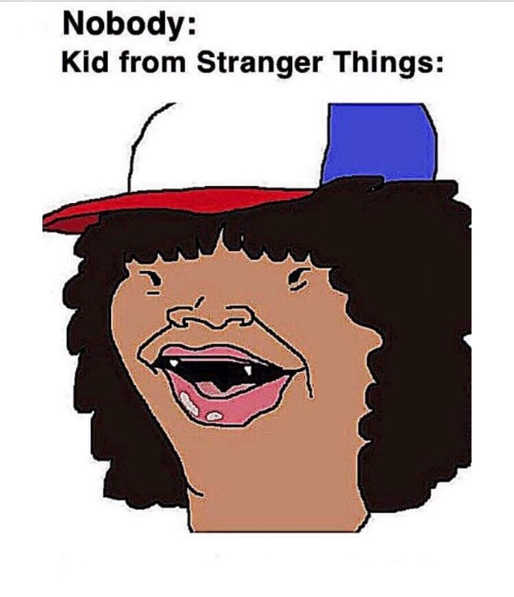 Cartoon - Nobody: Kid from Stranger Things: