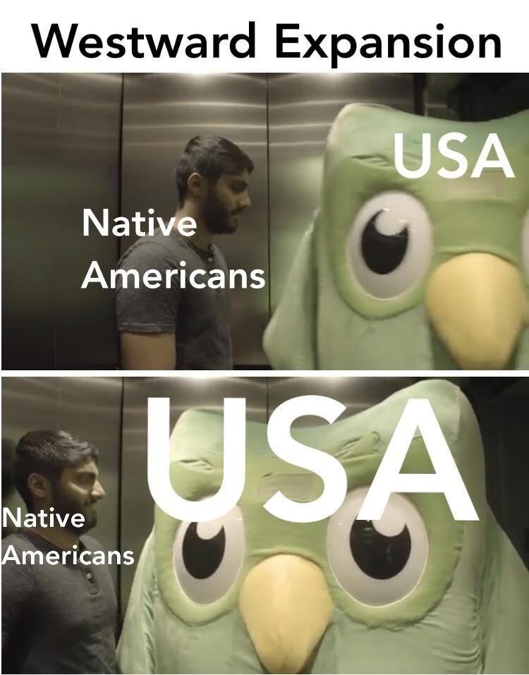 history meme - Photo caption - Westward Expansion USA Native Americans SA Native Americans