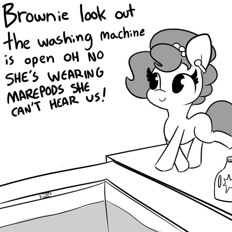 OC tj pones airpods Memes brownie bun horse wife - 9344238080