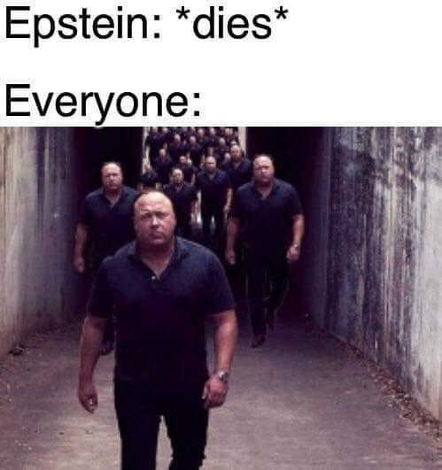 conspiracy - Sky - Epstein: *dies* Everyone: