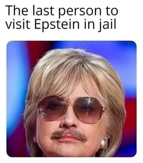 conspiracy - Hair - The last person to visit Epstein in jail