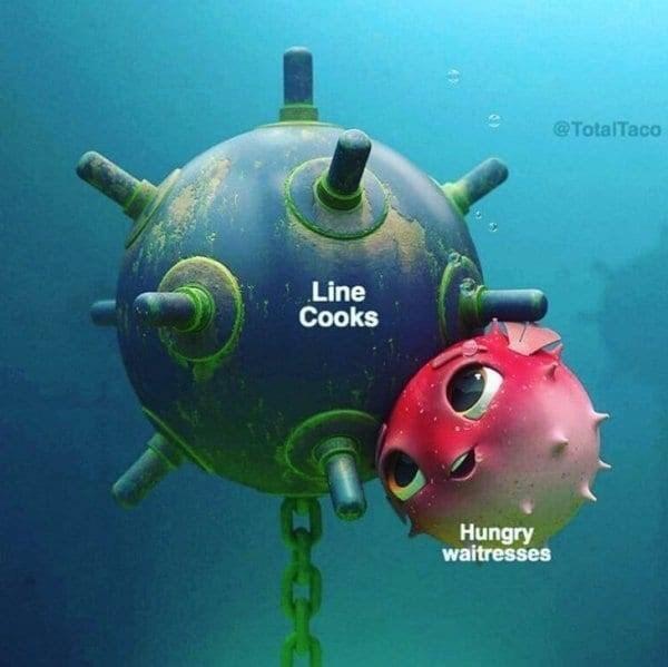 meme - Submarine - @TotalTaco Line Cooks Hungry waitresses