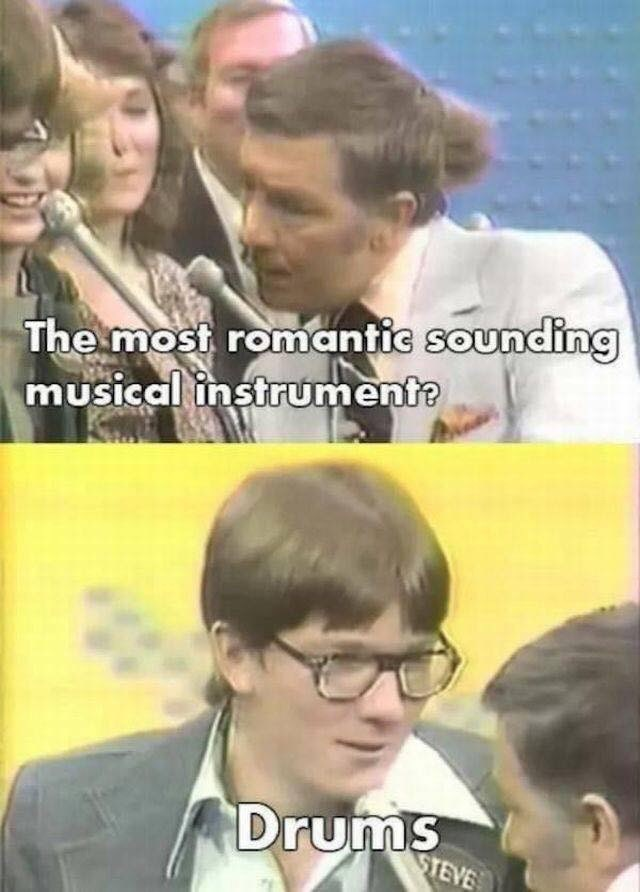Photo caption - The most romantic sounding musical instrumente Drums STEVE