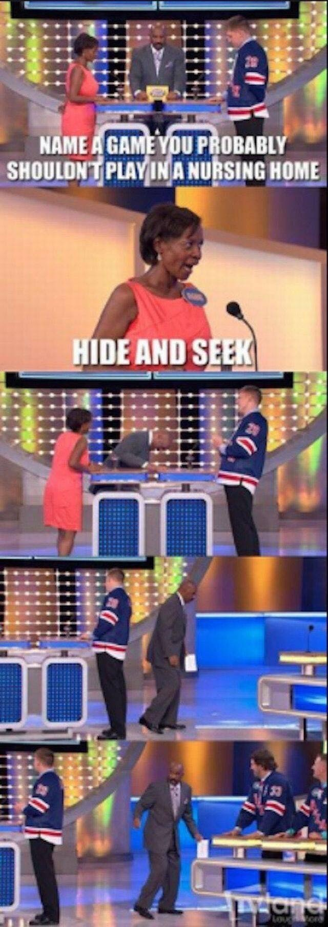 game show - Product - NAME A GAME YOU PROBABLY SHOULDNTPLAY INA NURSING HOME HIDE AND SEEK LYOnd auckions