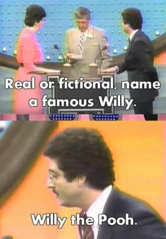 game show - Photo caption - Real or fictional, name famous Willy Willy the Pooh.