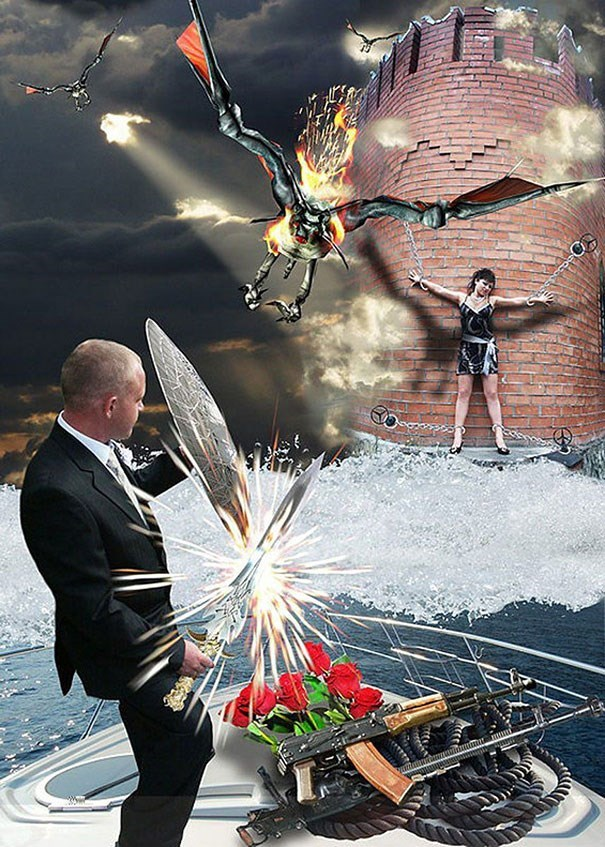 russian wedding - Photomontage