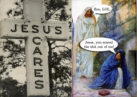 Text - Boo, LOL JESUS Jesus, you scared the shit out of me! UARES