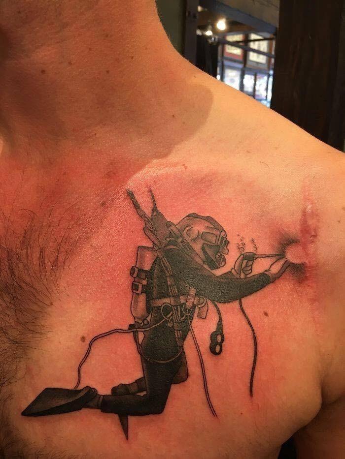 scar tattoo - Shoulder