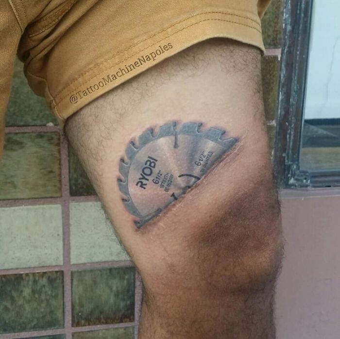 scar tattoo - Tattoo - @TattooMachineNapoles 1/2 o00