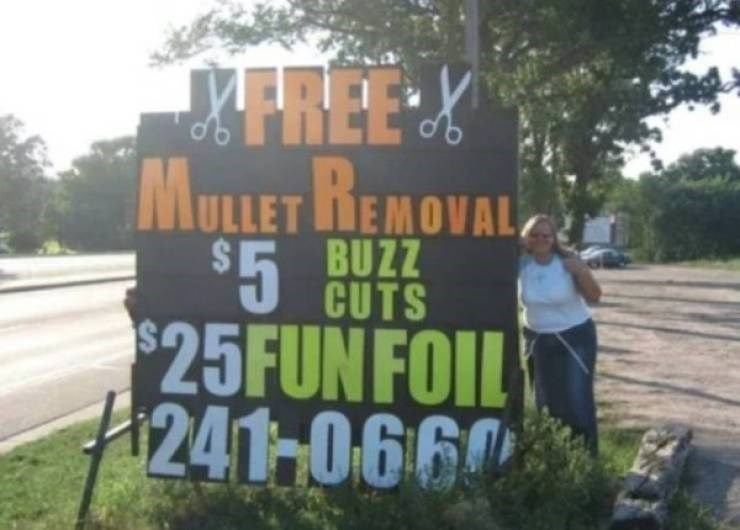 Nature - FREE X MULLET HEMOVAL BUZZ $5 CUTS $25FUNFOIL 241-066