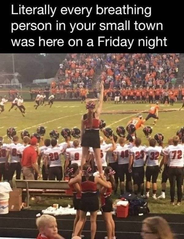 Cheering - Literally every breathing person in your small town was here on a Friday night 297 32 72