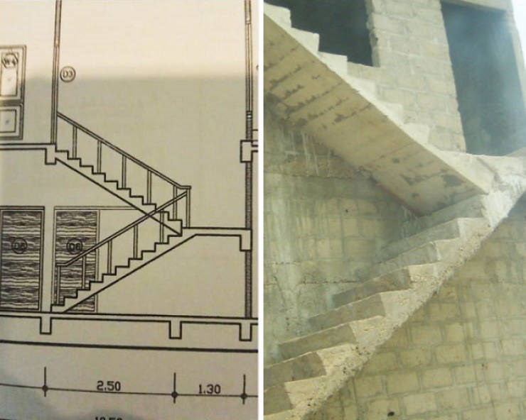 design fail - Stairs - 2.50 1.30 10 E0