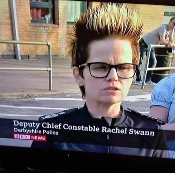Eyewear - Deputy Chief Constable Rachel Swann Derbyshire Polce BBC NEWS