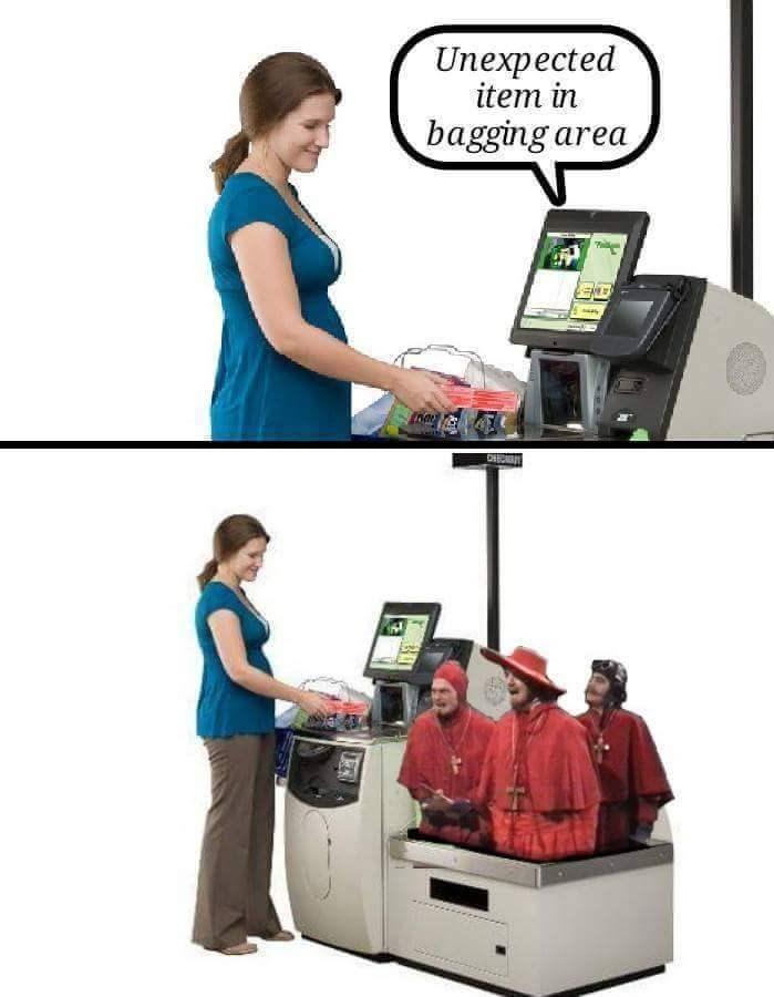 """Meme - """"Unexpected item in bagging area"""""""