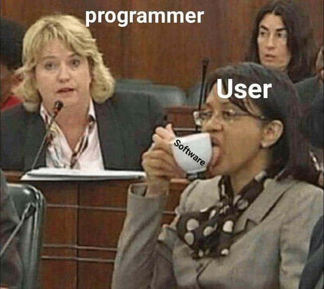Photo caption - programmer User Software