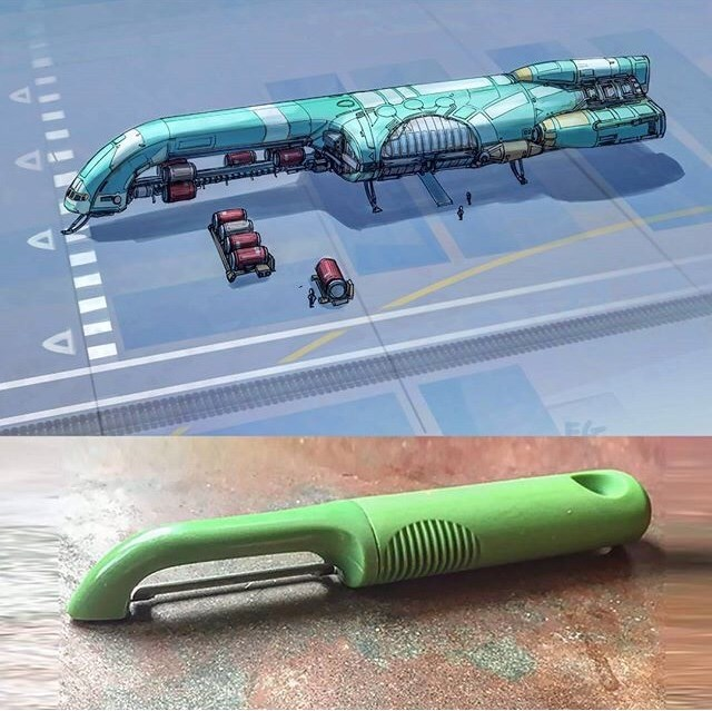 everyday items turned spacecrafts - Transport