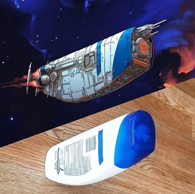 everyday items turned spacecrafts - Space - w. 4
