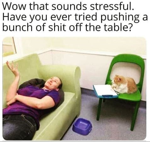 Product - Wow that sounds stressful. Have you ever tried pushing a bunch of shit off the table?