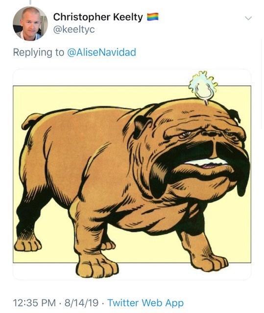 Simon Cowell new face - Cartoon - Christopher Keelty @keeltyc Replying to @AliseNavidad 12:35 PM 8/14/19 Twitter Web App