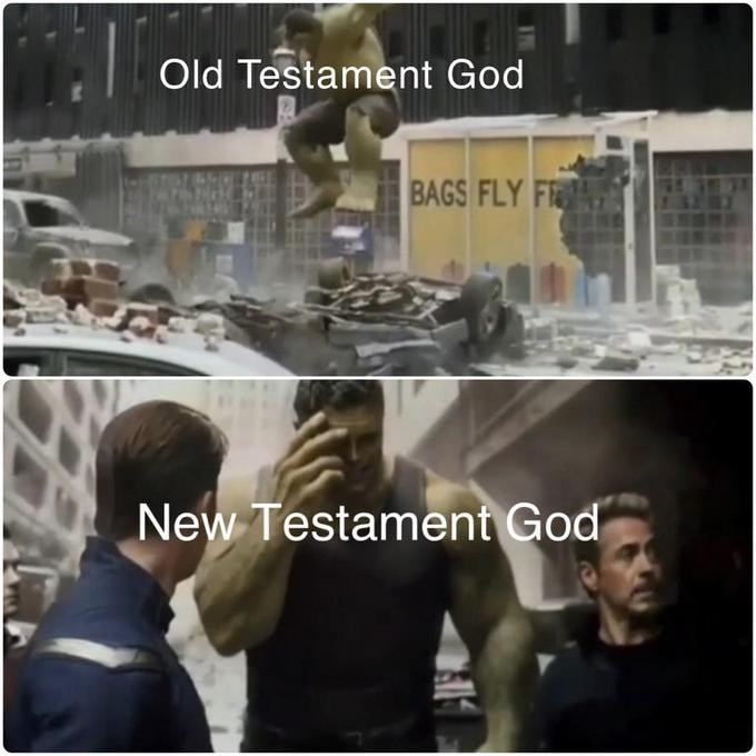 Snapshot - Old Testament God BAGS FLY F New Testament God