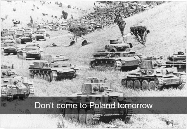 Combat vehicle - Don't come to Poland tomorrow