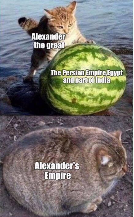 Watermelon - Alexander the great The Persian Empire Egypt and partof India Alexander's Empire