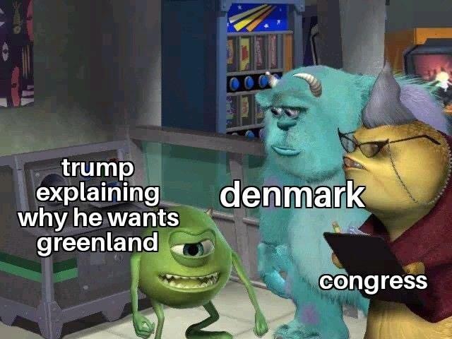 Cartoon - trump explaining why he wants greenland denmark congress