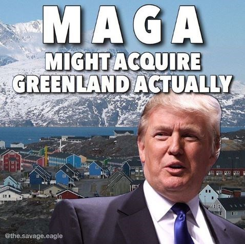 Sky - MAGA MIGHT ACQUIRE GREENLAND ACTUALLY @the.savage.eagle
