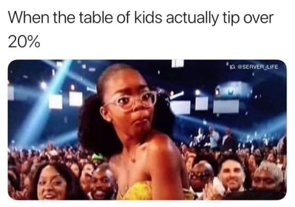 People - When the table of kids actually tip over 20% G SERVER LIFE