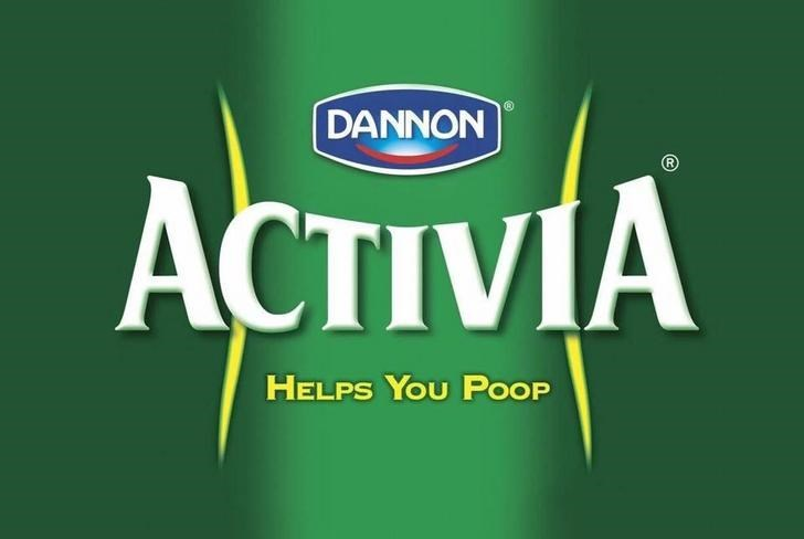 advertisements - Green - DANNON ACTIVIA HELPS YOU POOP