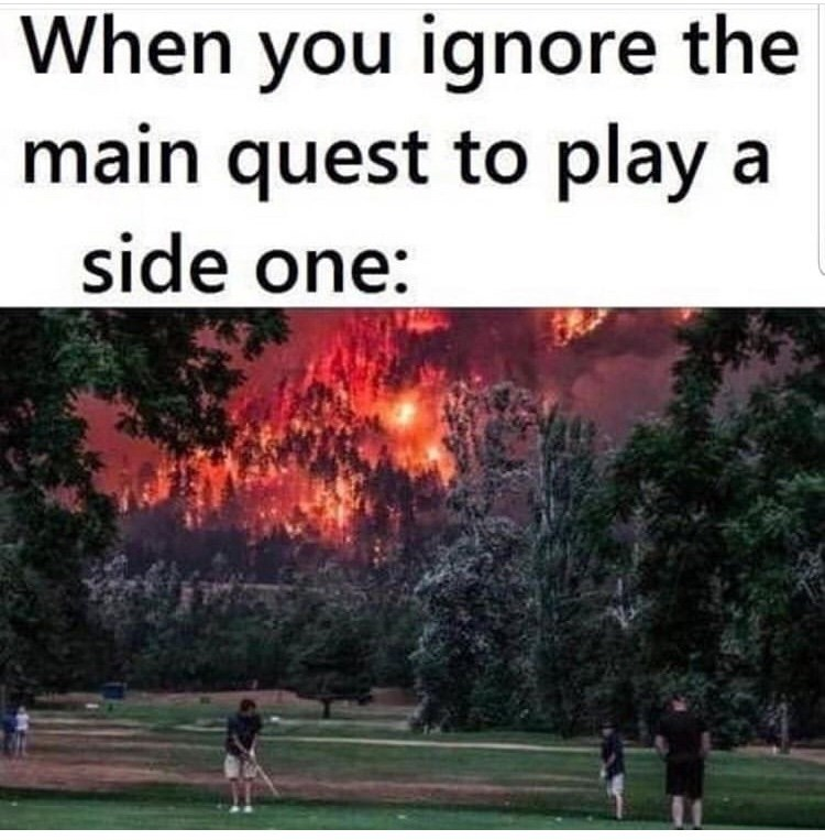 Tree - When you ignore the main quest to play a side one: