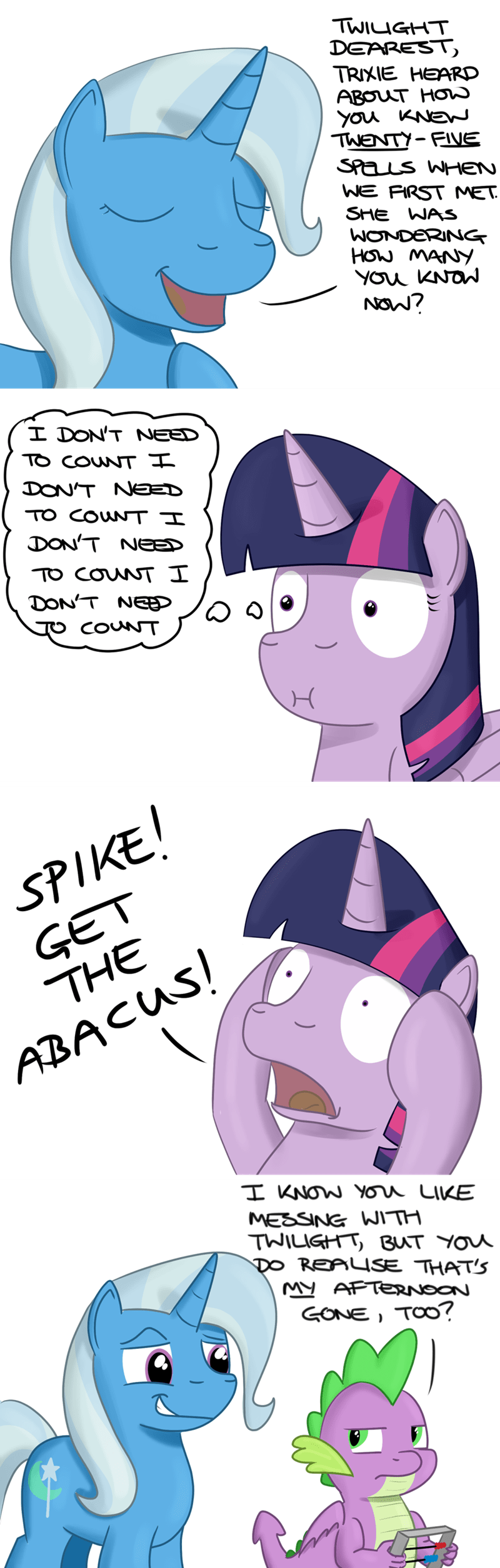spike the great and powerful trixie twilight sparkle hoofclid - 9346450176