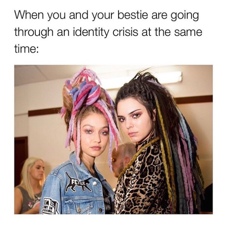 Hair - When you and your bestie are going through an identity crisis at the same time: FEVER FASHION
