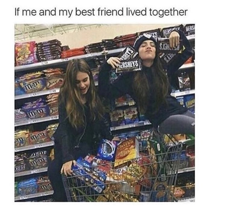"Meme - ""If me and my best friend lived together"""