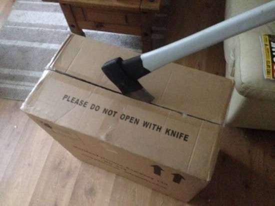 Material property - PLEASE DO NOT OPEN WITH KNIFE