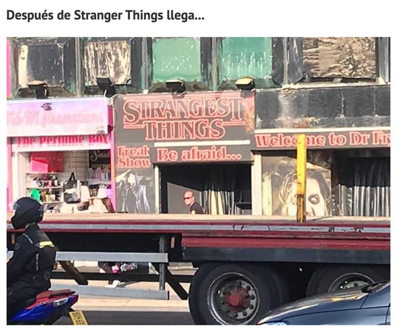 Transport - Después de Stranger Things llega... SIRANGEST THINGS perwme BOX Welcame to Dr Fr Sinel Tcak Be afraid.co Show