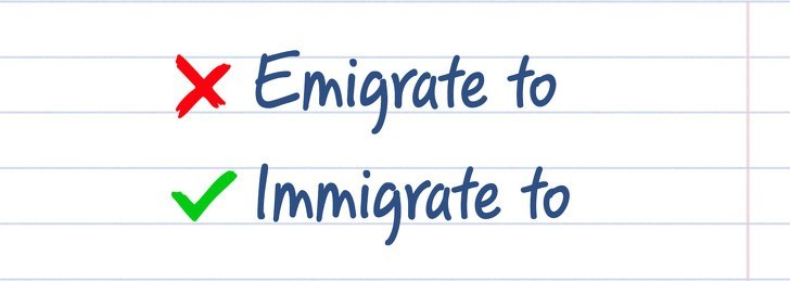 spelling - Text - X Emigrate to Immigrate to
