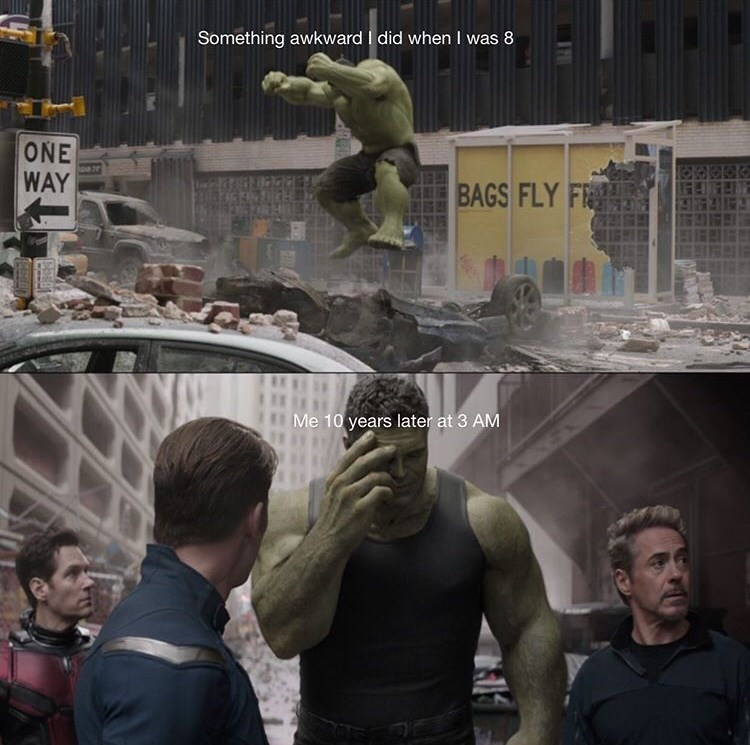 Hulk - Something awkward I did when I was 8 ONE WAY BAGS FLY F Me 10 years later at 3 AM