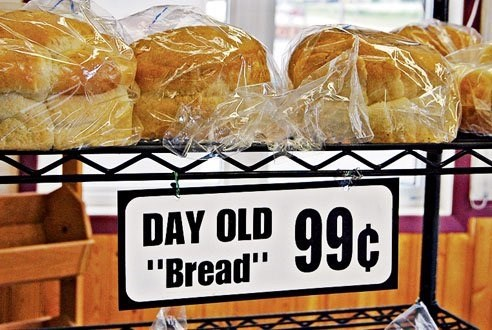 """quotation marks - Bread - DAY OLD 99c """"Bread"""""""
