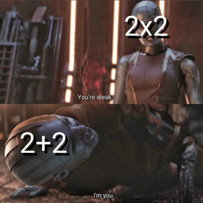 Leather - 2x2 You're weak. 2+2 I'm you.