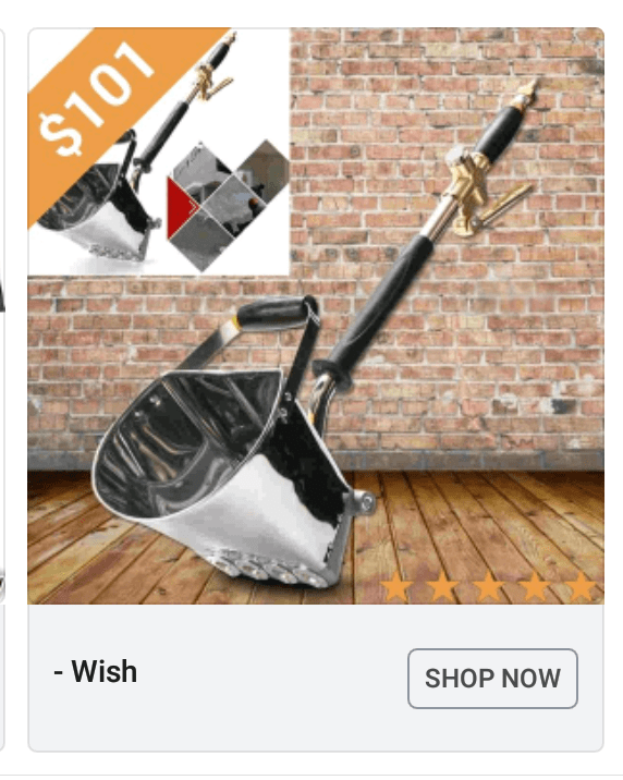 Shovel - $101 - Wish SHOP NOW