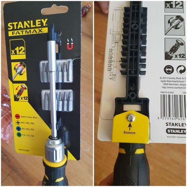 false advertising - Tool accessory - X12 STANLEY FATMAX x12 x12 O 2014 Stanley Black & D Egide Walschaertsstraat 1 2800 Mechelen, Belgiu http://www.stanleytool FMHTO 62690 720 x 12 Smm, 6.5mm8 3 253560 626 PH1, PH2, PH3 STANLEY PZ1, P22, P23 STANLEY Remove T10,T15, 120 REGISTERED TRADEMARK S60