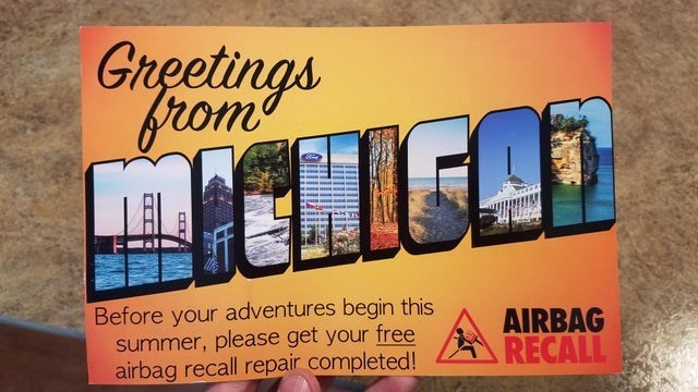 false advertising - Font - Gireetings Srom TCLiD Before your adventures begin this summer, please get your free airbag recall repair completed! AIRBAG RECALL
