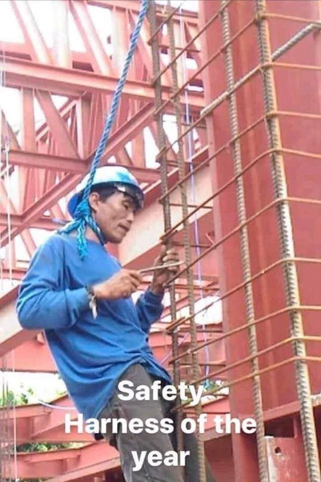 failed attempt - Blue-collar worker - Safety Harness of the year