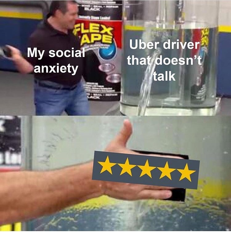 Hand - FLEX APE My sociaf anxiety Uber driver that doesn't talk