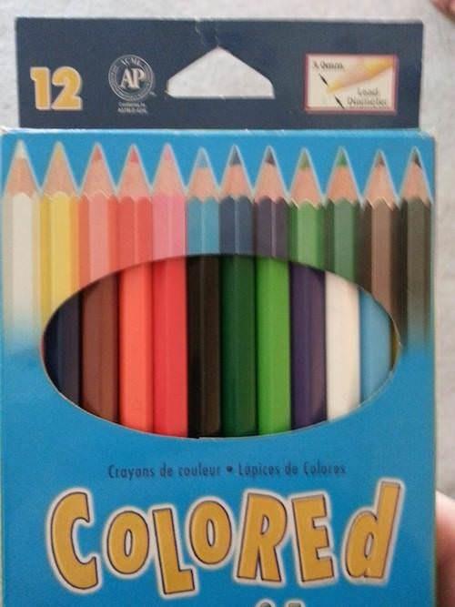 uncomfortable pic - Pencil - 12 AP Crayons de couleur Lapices de Colores